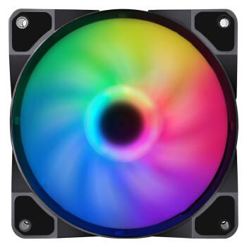 BUBALUS 大水牛 冰晶 幻彩RGB电脑机箱散热风扇(多模式灯效/12cm风扇/液压静音/减震脚垫/大4pin/9扇叶)