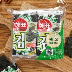 韩国海牌海苔2g*8包(韩国进口 袋)新老包装随机发货