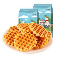 耶米熊蛋黄煎饼薄脆牛奶饼干袋装早餐小吃零食310g *14件