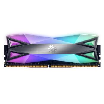 威刚(ADATA)DDR4 4133 16GB(8G×2)套装 台式机内存 XPG-龙耀D60G(RGB灯条)幻彩灯光内存条/三星B-DIE