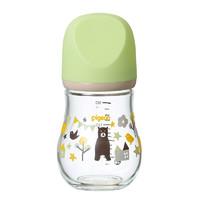 Pigeon 贝亲 臻宝系列 00372 玻璃奶瓶 160ml 熊 0月++凑单品