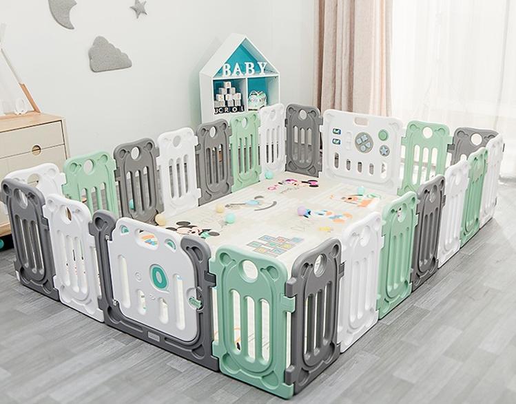 丘巴 婴儿防护栏 16小片+门栏+游戏栏