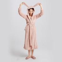 DAPU 大朴 D3F08202 女士兔耳连帽长款睡袍 +凑单品