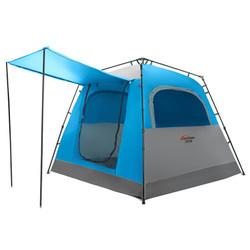 Whotman 沃特曼 帐篷户外4-6人双层加高休闲露营野营帐篷自动速开免搭建 蓝色WZ1867