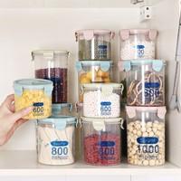 莱朗 透明塑料密封罐 3件套 600+800+1000ml *2件