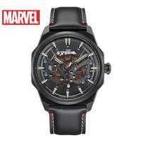 漫威机械表手表男全自动镂空蜘蛛侠联名正品男士手表潮流钢表黑色 M-6012BBB