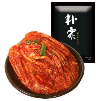 朴家 pc 韩国泡菜韩式辣白菜整颗白菜朝鲜泡菜450g