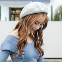 研潮 YC-201838 女款羊毛贝雷帽