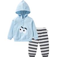 balabala巴拉巴拉童装帅宝宝洋气套装男童冬季新款周岁婴儿衣服长袖两件套潮 *2件