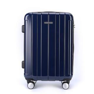 美旅拉杆箱 20英寸万向轮静音行李箱男商务出差女旅行箱登机箱 TSA密码锁BJ9深蓝色