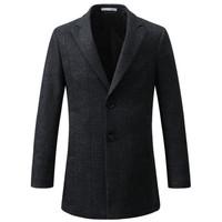 Artsdon/阿仕顿大衣男士毛呢大衣中长款单排扣修身羊毛大衣加厚呢子外套