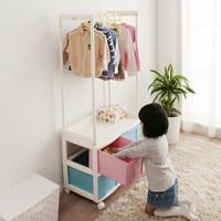 IRIS 爱丽思 MHC140 落地衣架和收纳柜二合一 组合衣柜