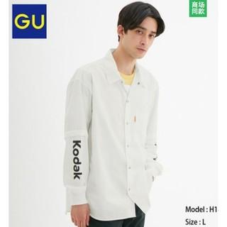 GU 极优 KODAK 柯达合作款 320268 拼接衬衫