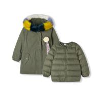 巴拉巴拉童装女童羽绒服小童宝宝两件套冬2019新款儿童派克服外套 *2件