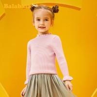 巴拉巴拉 女童针织衫 秋冬儿童毛衣 女宝宝打底衫