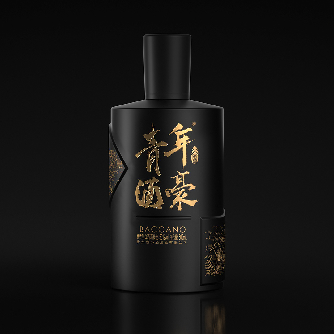 谷小酒 青年酒豪·茅台镇53度酱香型白酒 (500ml、瓶装)