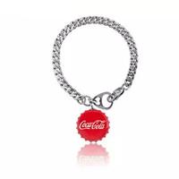 周大福 MONOLOGUE獨白 | 可口可樂聯名合作款 肥宅快樂水瓶蓋 銀手鏈 (16.25mm)