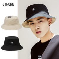 JINUNE 中性款双面渔夫帽