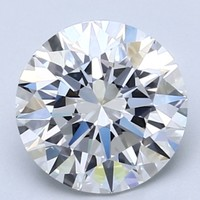 Blue Nile 2.08克拉 圆形切割钻石(切工EX,成色D,净度VVS2)