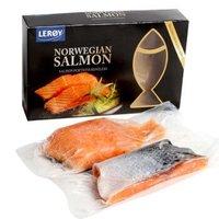 leroy 挪威原装进口冷冻三文鱼 250g 1-2块 盒装