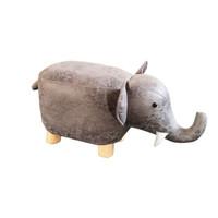 SCNDEWMY   儿童卡通凳实木动物凳子 灰色小象