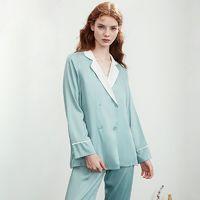 嫚熙月子服夏薄款睡袍孕妇吊带裙哺乳睡衣家居服套装