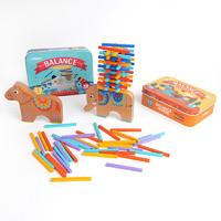弥鹿(MiDeer)儿童玩具 亲子游戏3-6岁大象平衡木叠叠乐拼搭积木彩棒 菲比象平衡木