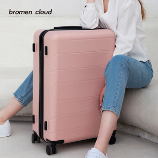 bromen 不莱玫 小云行李箱女拉杆箱万向轮24寸旅行箱 红色