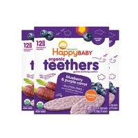 88VIP:Happy Baby 禧貝 有機溫和磨牙餅干 48g*3盒 *2件
