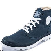 PALLADIUM帕拉丁经典撞色情侣高帮鞋 (靛蓝色、39)
