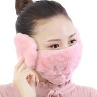 flyvii KZ-6640 女士保暖口罩耳帽二合一