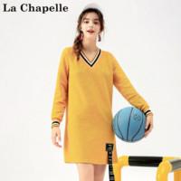 La Chapelle 拉夏贝尔 20010710 女士V领撞色连衣裙