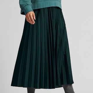 UNIQLO 优衣库 420358 女装高腰打褶长裙