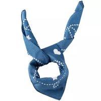 COACH 蔻驰 奢侈品 女士蓝色印花方巾 F26598 BHP