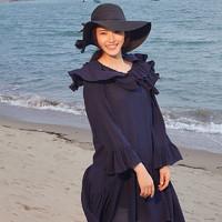 Jane Eyre 女士荷叶边度假风连衣裙