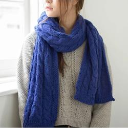 触族 女款纯色针织围巾