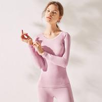 GAINREEL 歌瑞尔 舒适保暖内衣女士打底贴身长袖套装19021CT 粉红色 L