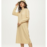 GU 极优 318105 女装侧排扣连衣裙