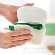 久丽 竹纤维不沾油洗碗巾 双层加厚 20*20cm小号8条盒装