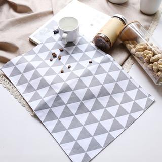 舍里 北欧全棉餐垫餐巾西餐布