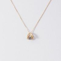 银联专享:松屋原创 Dancing Stone 钻石白金项链 K18 0.1克拉