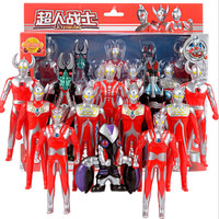 奥特曼套装(12个)玩具怪兽对战超人模型