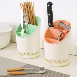 塑料沥水筷子架 粉色