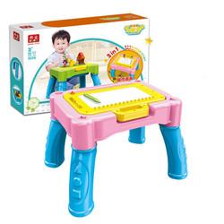 邦宝 多功能学习绘画磁性画板积木桌 9028-2 *2件