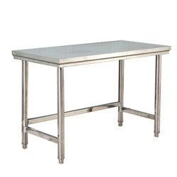 单层不锈钢操作台工作台饭店商用打荷酒店厨房切菜桌子包装面案板 单层长80宽40高80加厚