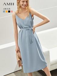 AMII 11920222 女士极简法式仙女连衣裙