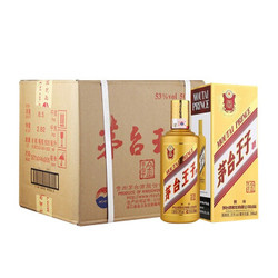 茅台 王子酒 (内含3个礼品袋) 金王子 53度 500ml*6瓶 整箱装 酱香型