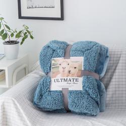 R.XKarina 玛迪瑞娜 AB版羊羔绒加厚休闲盖毯 150*200cm