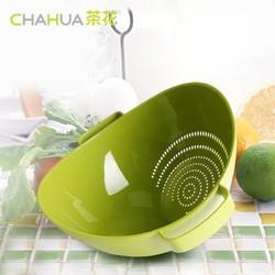 茶花  塑料水果蔬菜清洗多用筛