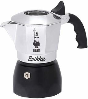 Bialetti Moka New Brikka 咖啡机,铝制 2 tazze 6782